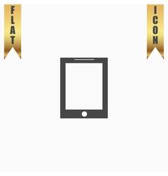 smart tablet icon vector image vector image