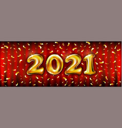 2021 golden balloons for store banners vector