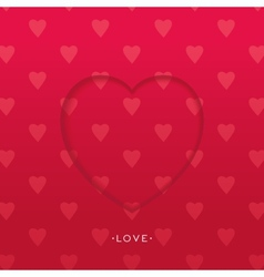 3D heart background vector image