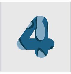 4 water font template design vector