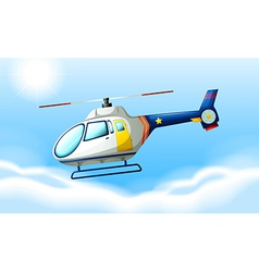 A helicopter flying in the sky vector