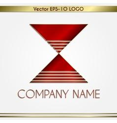 abstract company name logo vector image