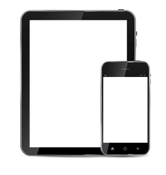 Abstract design realistic mobile phone and tablet vector