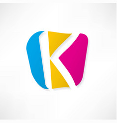 abstract icon based on the letter k vector image
