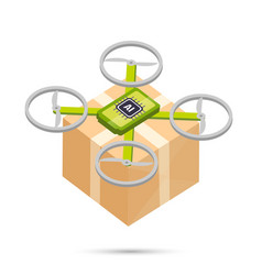 ai artificial intelligence technology delivery vector image