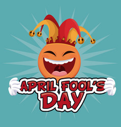 April fools day enjoyable celebration vector
