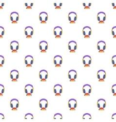 Audio book pattern cartoon style vector