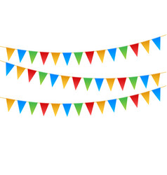 birthday party invitation banners set flag vector image