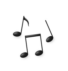 black volume music note symbols or icons isolated vector image