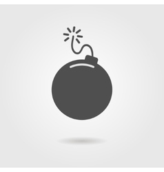 bomb icon with shadow vector image
