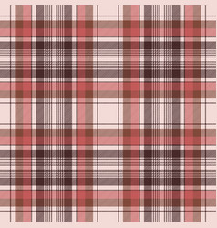 brown traditional plaid fabric texture seamless vector image