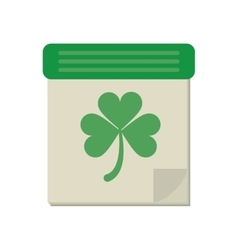 calendar clover st patrick day irish culture vector image