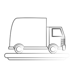 cartoon transport truck vector image