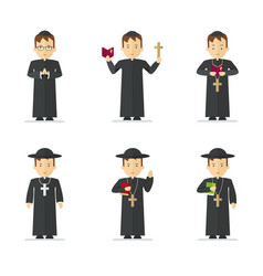 Catholic priest character vector