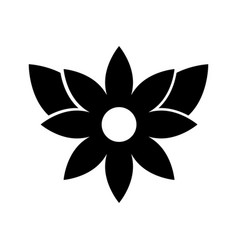 christmas flower poinsettia decoration celebration vector image