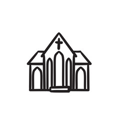 church sketch icon vector image