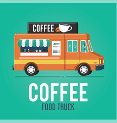coffee food truck vector image