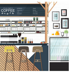 Coffee shop any one vector