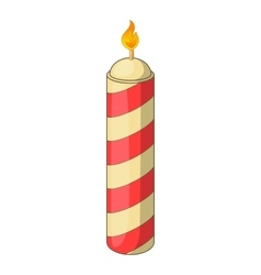 Color candle icon cartoon style vector image