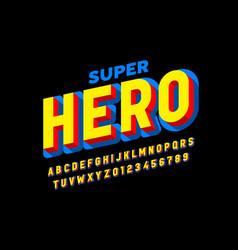 Comics superhero style font alphabet letters vector