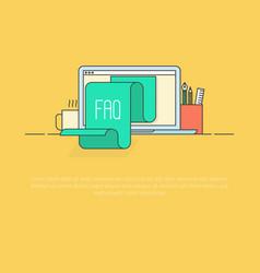 Concept faq for website list jumps vector
