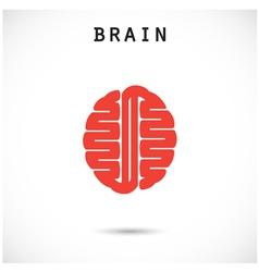 Creative brain abstract logo design template vector
