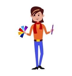Designer character vector image