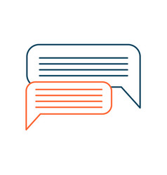 dialog messaging bubble sign concept of vector image