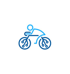 digital bike logo icon design vector image