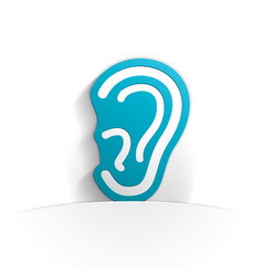 ear icon paper vector image