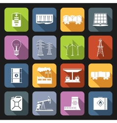Energy Icons Flat Set vector image