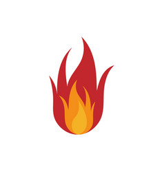 fire logo icon design template vector image