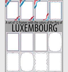 Flag v12 luxembourg vector