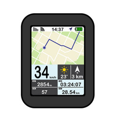 flat design gps device on vector image