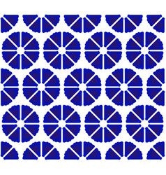 flower pattern blue and white vector image