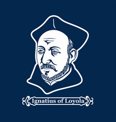 Founder of the order of the jesuits vector