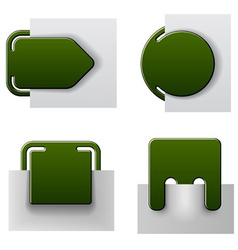 green attached labels vector image