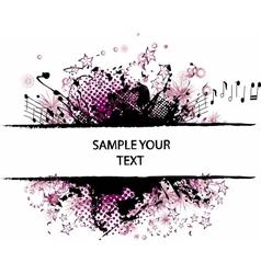 grunge border violet vector image