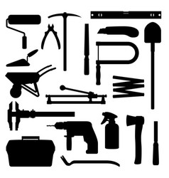 hand tools construction carpentry woks equipment vector image