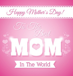 Happy mothers day card design vector