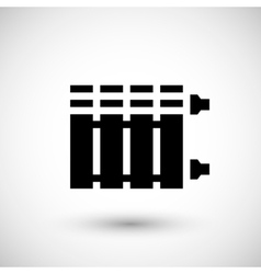 Heating radiator icon vector image