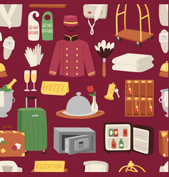 hotel or accommodation icon set travel symbol vector image
