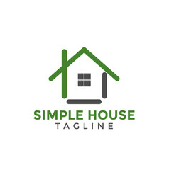 house logo icon design template vector image