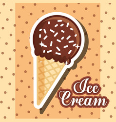 Ice scream kawaii vector