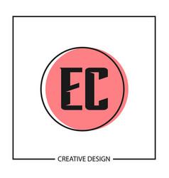 Initial letter ec logo template design vector
