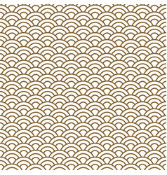 Japanese wave traditional seamless pattern vector
