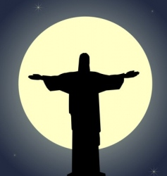 Jesus Christ statue vector image