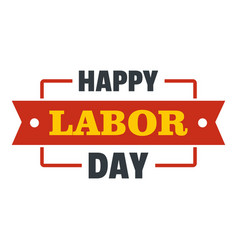 labor day happy logo icon flat style vector image