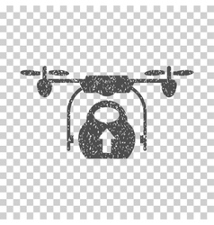 Load Cargo Drone Grainy Texture Icon vector