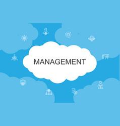 Management infographic cloud design template vector
